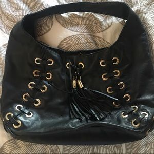 Michael Kors Black hobo with laced trim